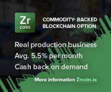 ZrCoin众筹在24小时内筹集到超过100万美元的融资资金
