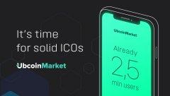 Ubcoin在代币预售中筹集了超过100万美元,现已启动代币主要销售阶段
