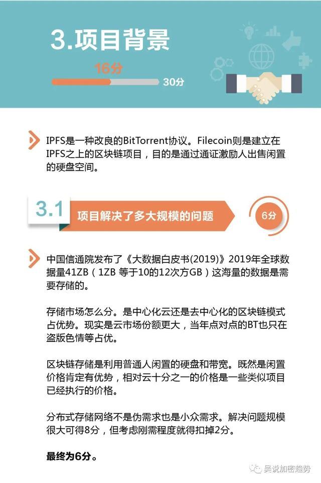 吴说评测室:全盘解析Filecoin 74分 展望中性偏正面 (项目第一期)