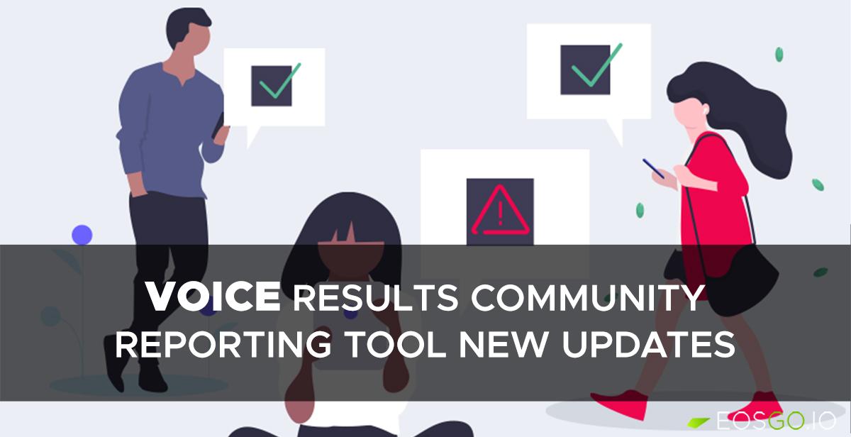 《Voice社区报告工具更新;B1:感谢社区对新EOS资源模型提出建议》