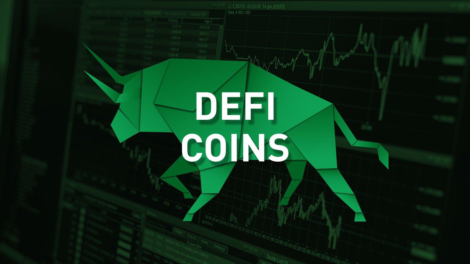 DeFi价格更新:DeFi硬币在强劲的每月表??现之后开始醒来-AAVE,COM,SNX,UNI-下