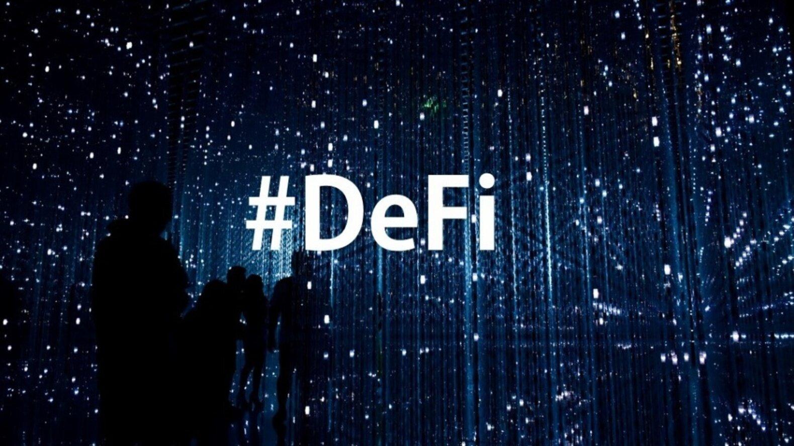 加密货币交易正在进行DeFi